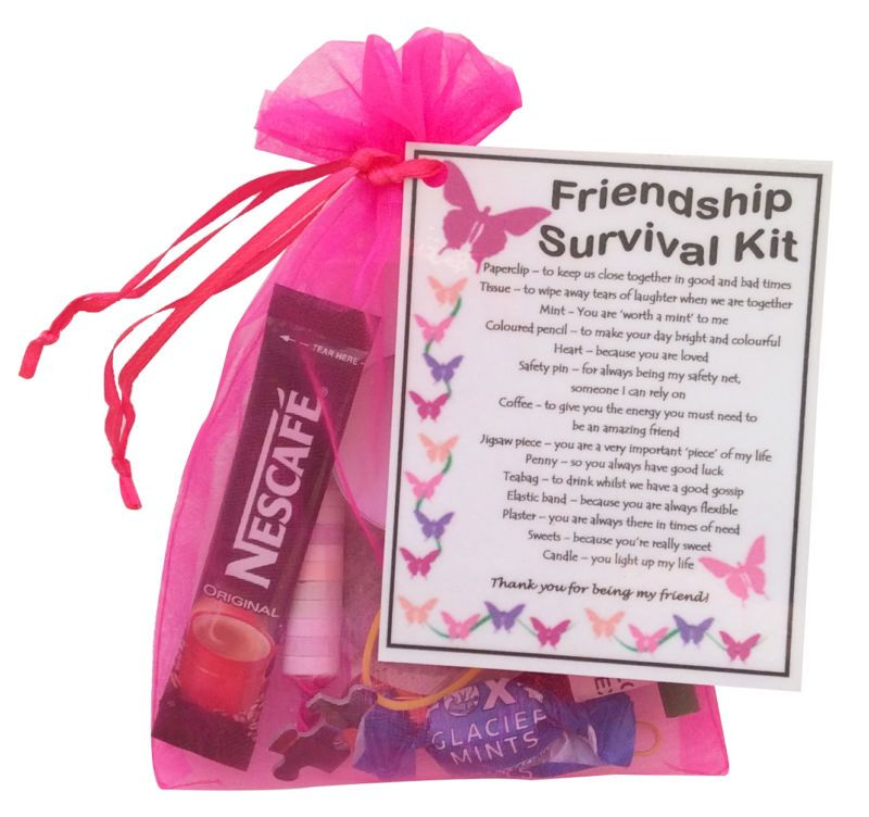 7 Personalized Birthday Presents For Your Best Friend: Details About Friendship /BFF / Best Friend Survival Kit