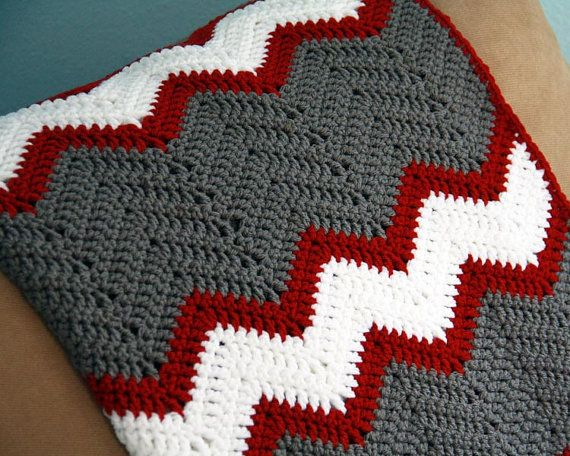 Crochet afghan pattern, chevron blanket pattern, crochet throw ...
