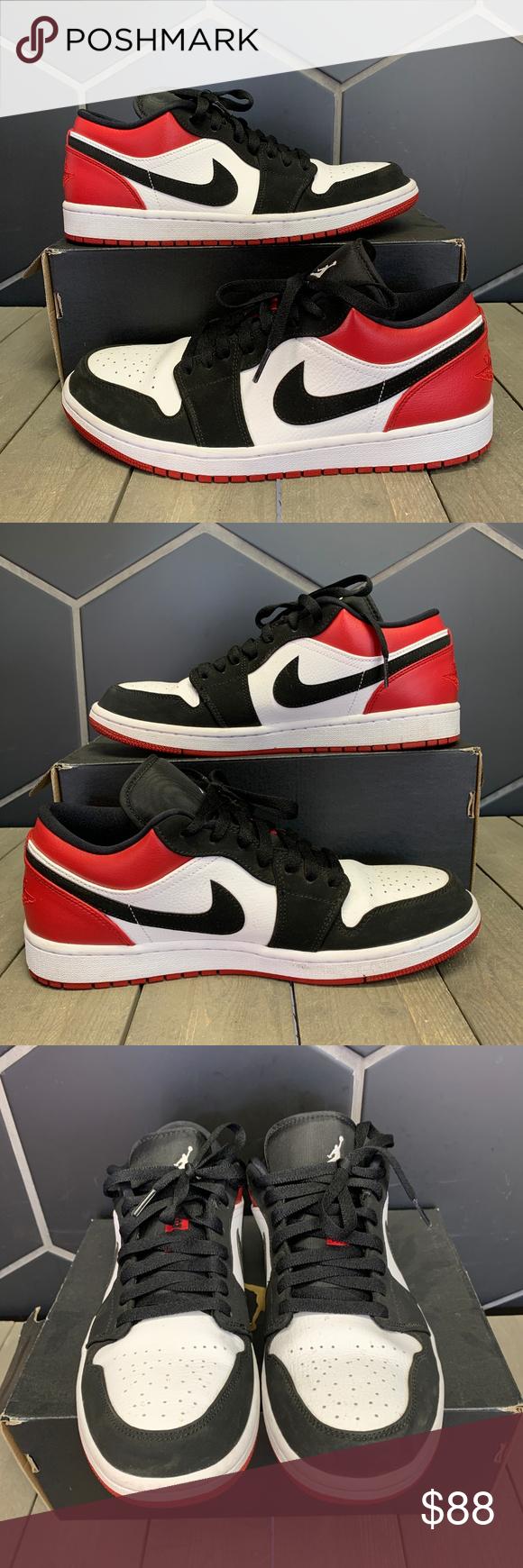 Black Toe White Sneaker Size