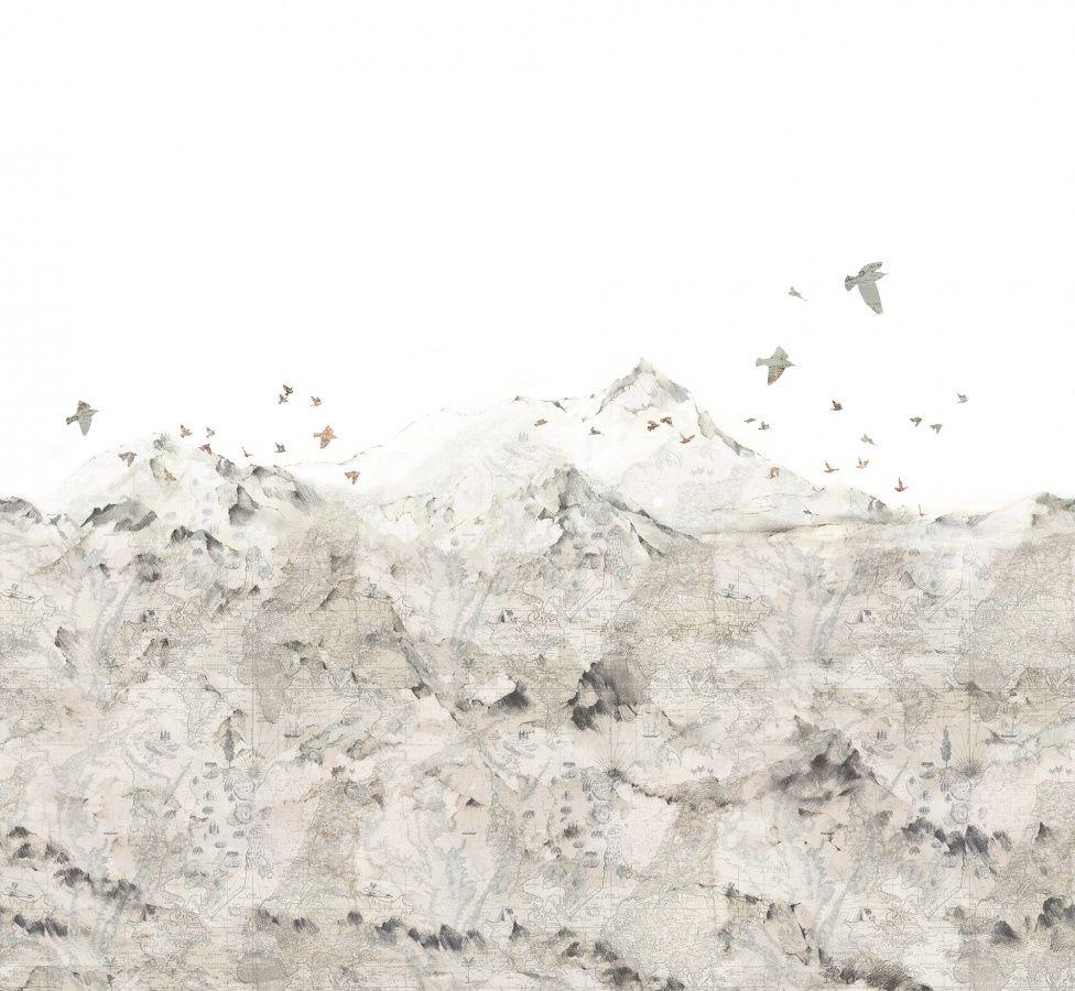 Paper Mountains   R13871   Wall murals - Wallpaper   Rebel Walls