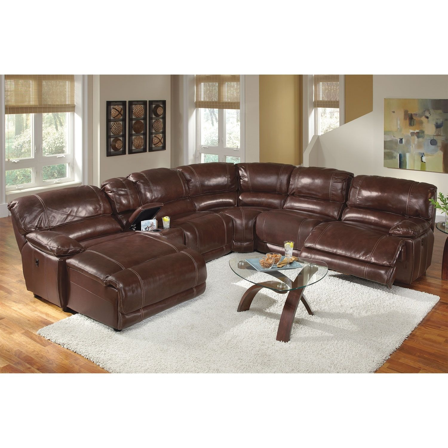 St Malo 6 Piece Power Reclining Sectional With Left Facing Chaise