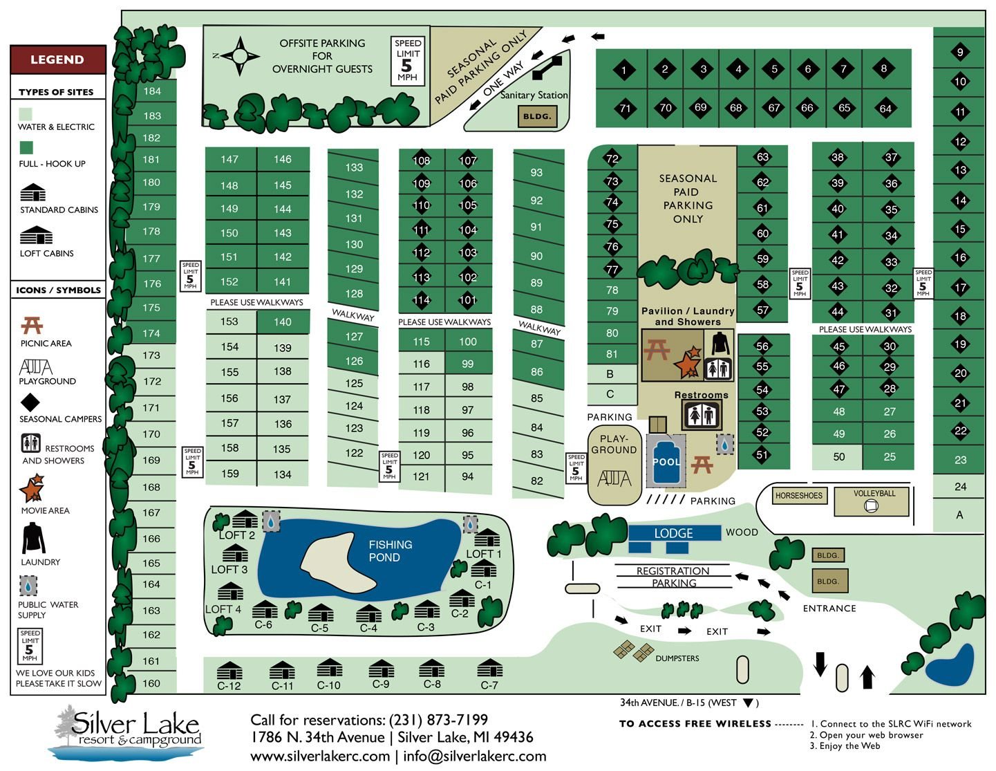 silver lake campground map Rates Map Silver Lake Resort Camping Locations Silver Lake silver lake campground map