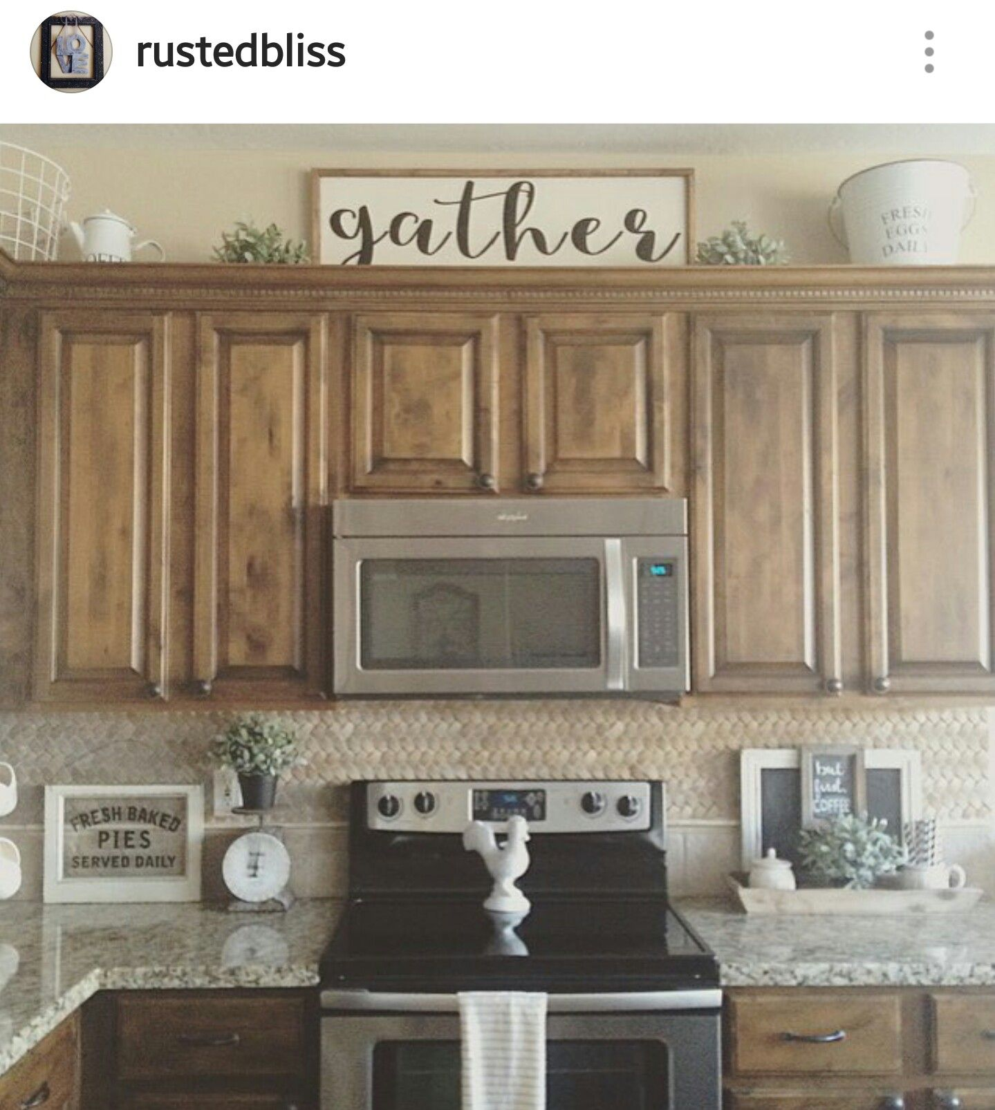 Gather Sign Kitchen Cabinets Decor Decorating Above Kitchen Cabinets Above Kitchen Cabinets