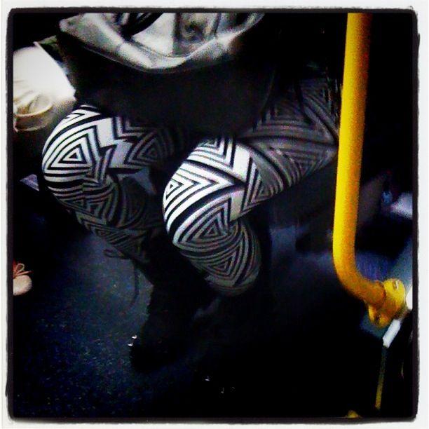 Leggings in the bus October 2012 http://www.patternhuntress.com/