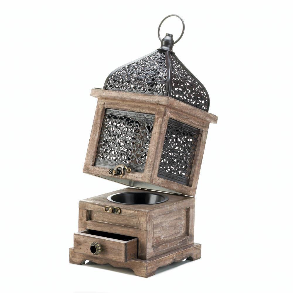 Fliptop moroccan lantern wooden lanterns wooden candle
