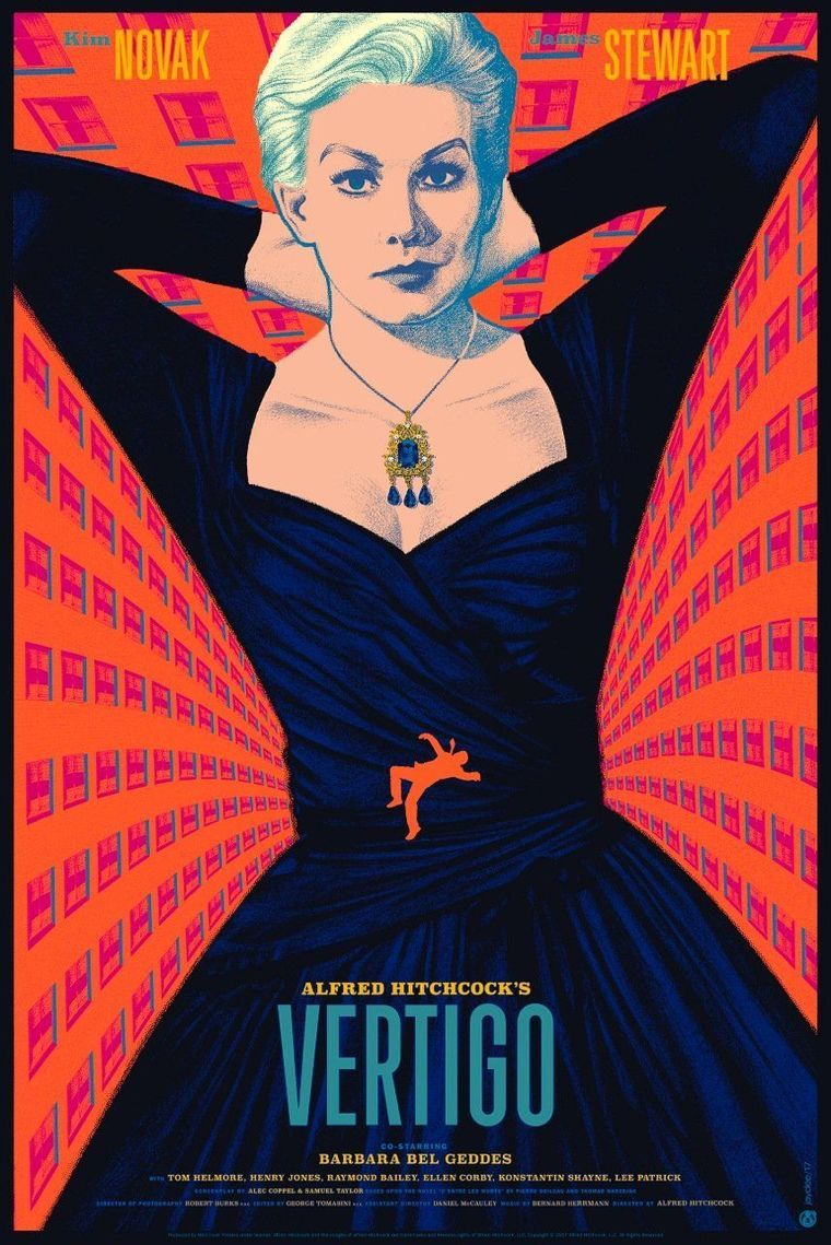 Cult M Alfred Hitchcock Poster VERTIGO MOVIE POSTER Vintage Vertigo Poster