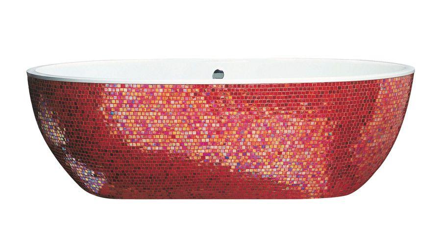 mosaique rouge salle de bain | boodeco.findby.co