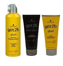 Got2b Ultra Glued Styling Gel Spiking Glue Blasting Freeze Spray For Hair 3pcs Got2b Hair Products Styling Gel Got2b Glued