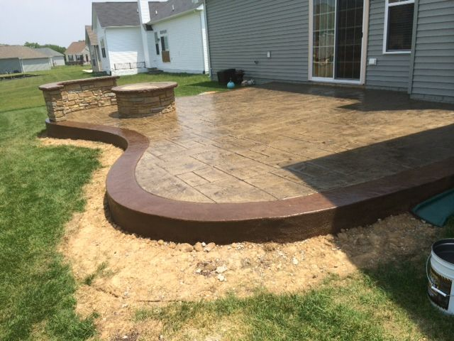 Custom Curved Patio | Blog | Blackwater Concrete in 2019 ... on Curved Patio Ideas id=42642