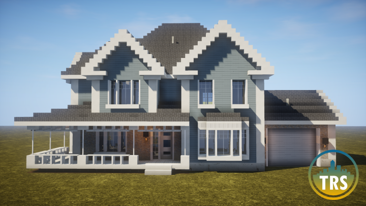 Realistic Home Trs Minecraft Project Modern Minecraft Houses Minecraft House Designs Cute Minecraft Houses
