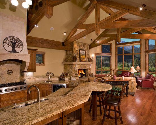 Best mountain home design interior kitchen design for Mountain home kitchens