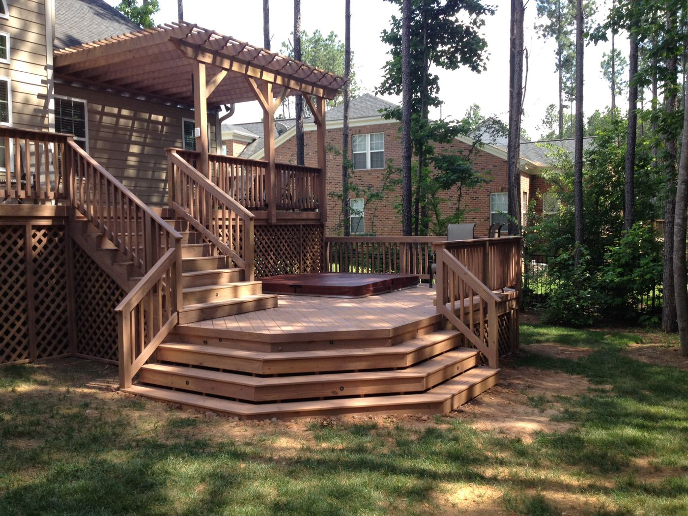 Layton double deck and pergola, I love the two distinct ... on 2 Level Backyard Ideas id=93891