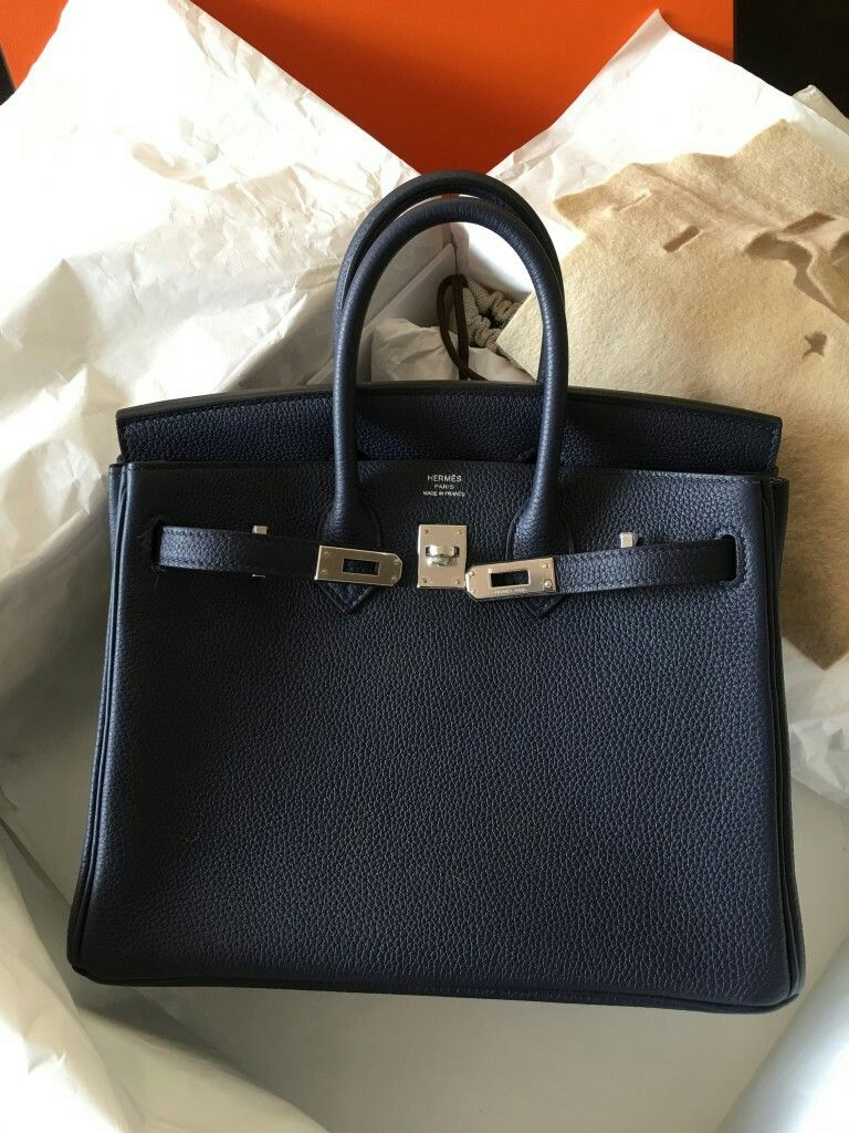 190c77f1391a54 Model: Hermes Birkin 25 Condition: Tried once Stamp: A 2017 Color: Bleu