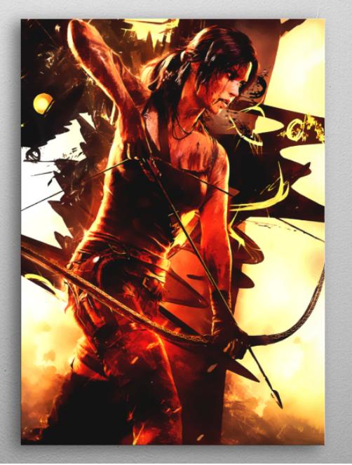 "Tomb Raider Lara Croft poster #Displate explore Pinterest""> #Displate #RedBubble explore Pinterest""> #RedBubble #WallArt… | Displate thumbnail"
