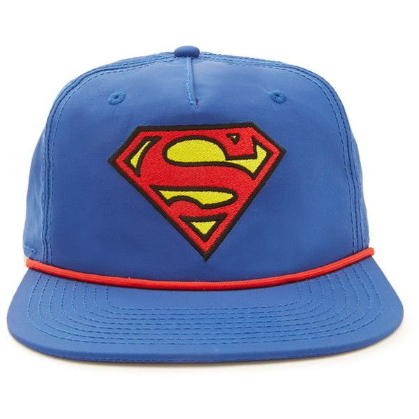 Forever 21 Superman Snapback Hat ($13) ❤ liked on Polyvore featuring men's  fashion,