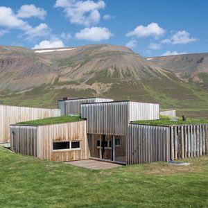 passive solar house in iceland hof house - Fjord Solar Home Plans