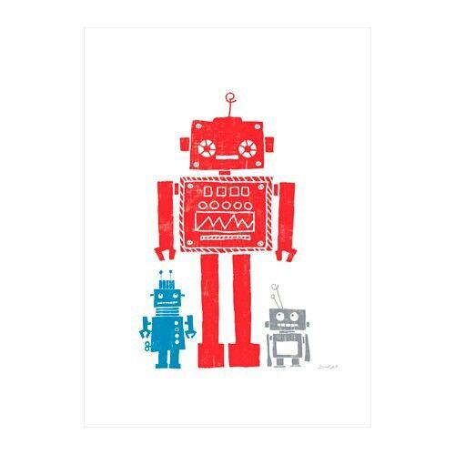 Affiche ikea robot enfant rouge | 棒球主题 | Pinterest | Robot ...