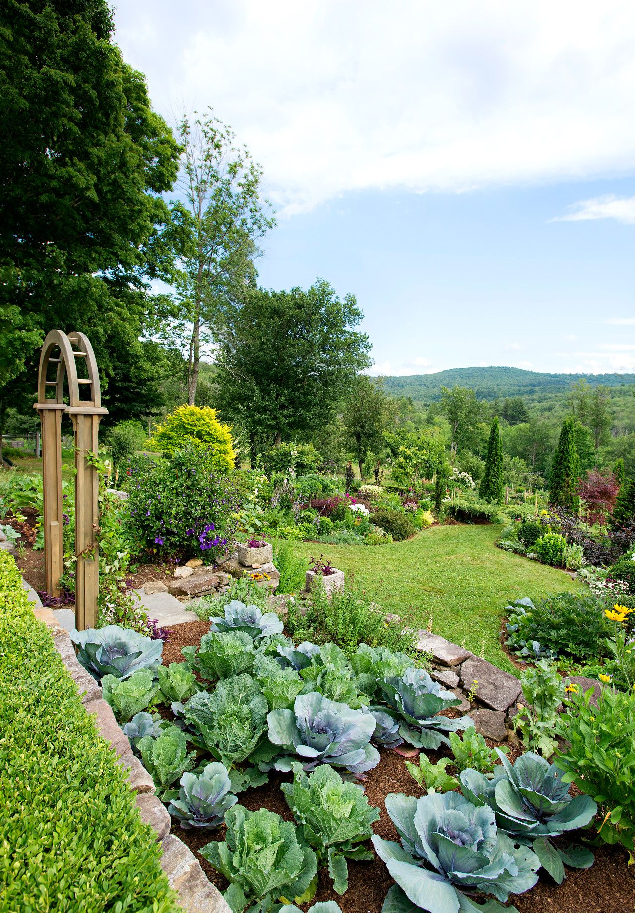 This Mixed Flower And Vegetable Garden Beautifully Breaks All The Rules Garden Types Gorgeous Gardens Vegetable Garden Design