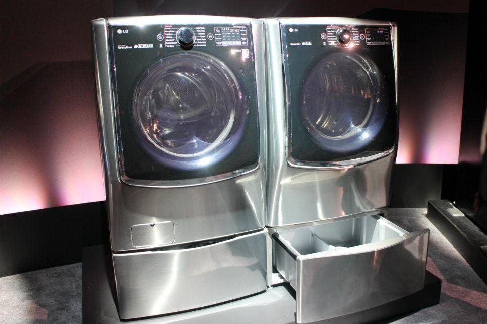 Lg Twin Wash System Adds Mini Washer Pedestal Washer Pedestal Diy Laundry Laundry Pedestal