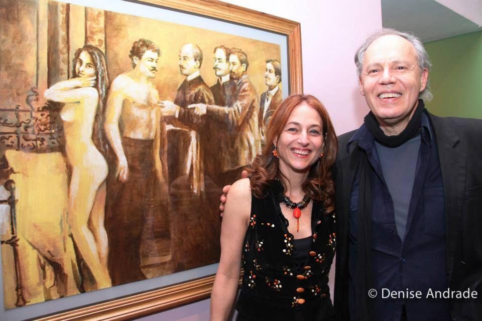 """Gregório Gruber e Debora Muszkat, juntos para surpreender em """"Fusões"""", na Pinaconteca Benedicto Calixto, em Santos"""