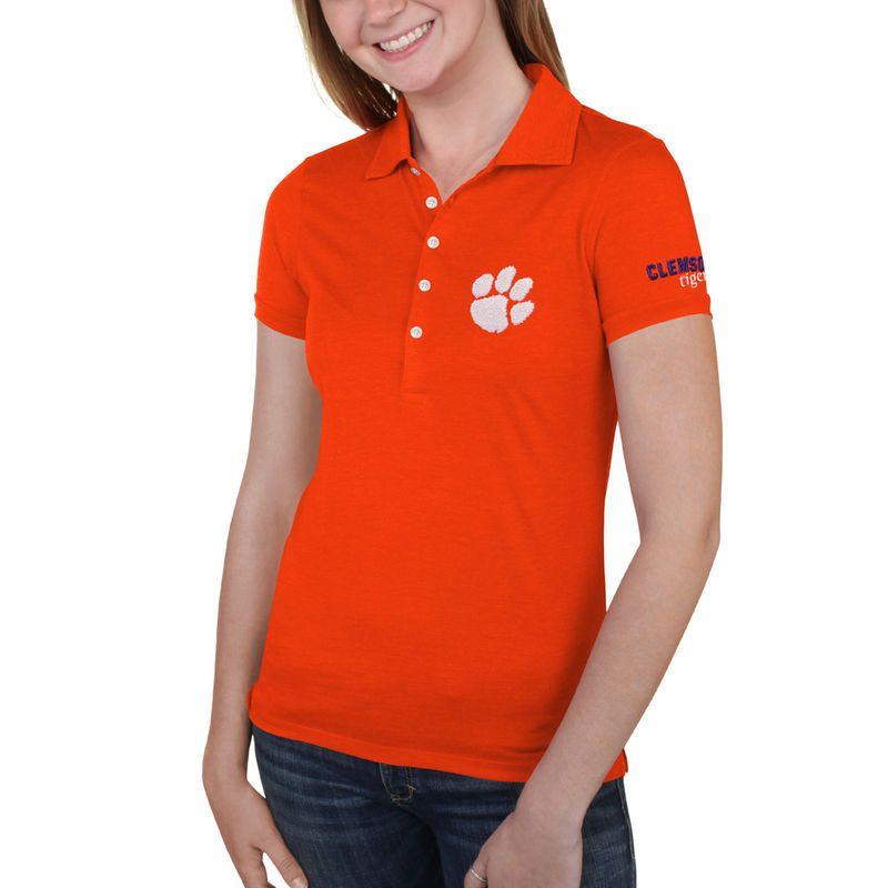 Clemson Tigers Women s Delta Polo - Orange  889546f03