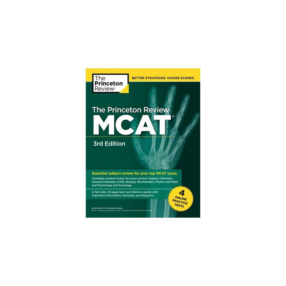 Princeton Review Mcat : 4 Practice Tests + Complete Content