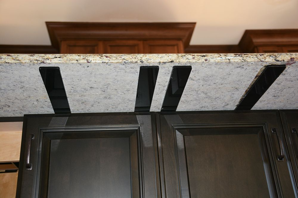 The Provencial Hidden Cabinet Bracket Installs On Top Of The Cabinets With Arms Extending Under The Overh Hidden Cabinet Countertop Brackets Countertop Support