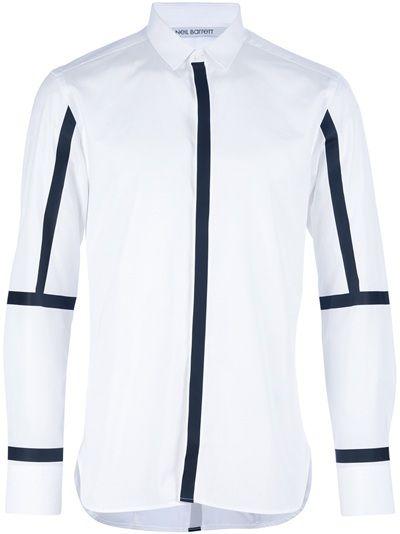 NEIL BARRETT Line Print Shirt