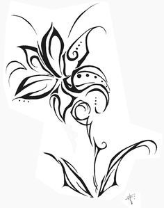 Tribal Flower Tattoo Design Recherche Google Tatouage Fleur Japonaise Designs De Tatouages
