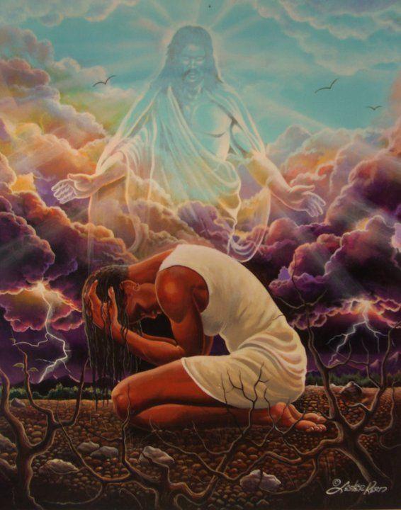 Art By Lester Kern Black Love Art African American Art Jesus Art