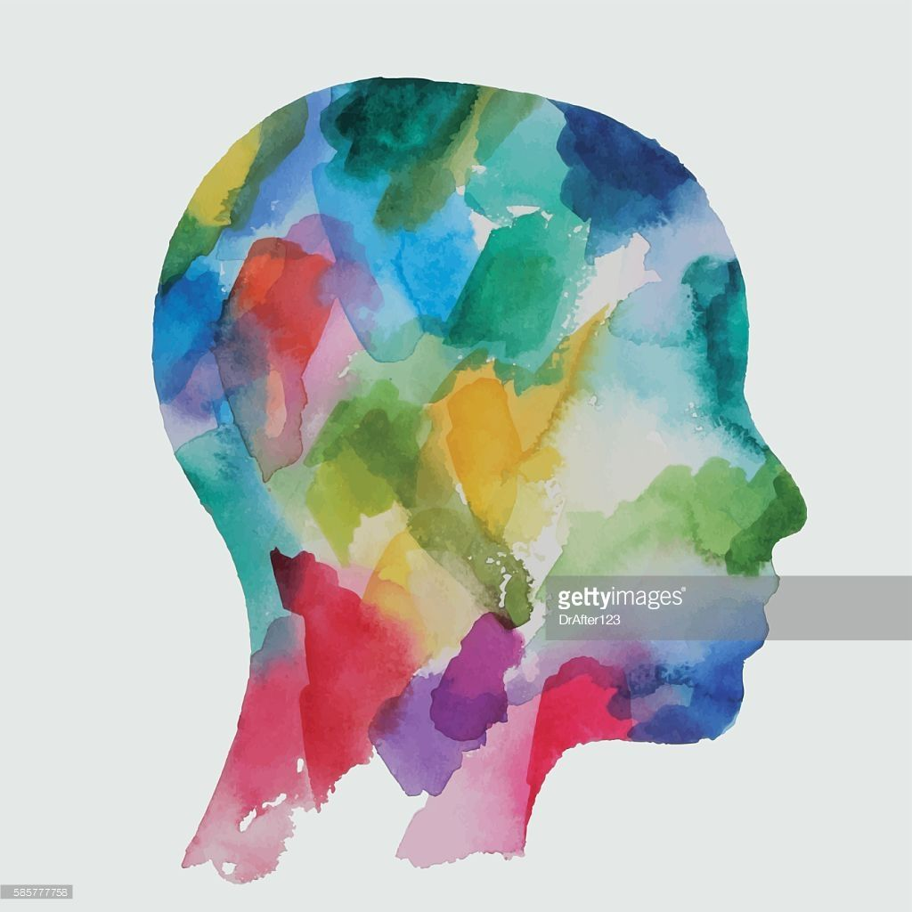 Abstract Vector Watercolor Drawing Of A Child Head Color Of A Paper Watercolor Drawing Watercolor Children Art Logos