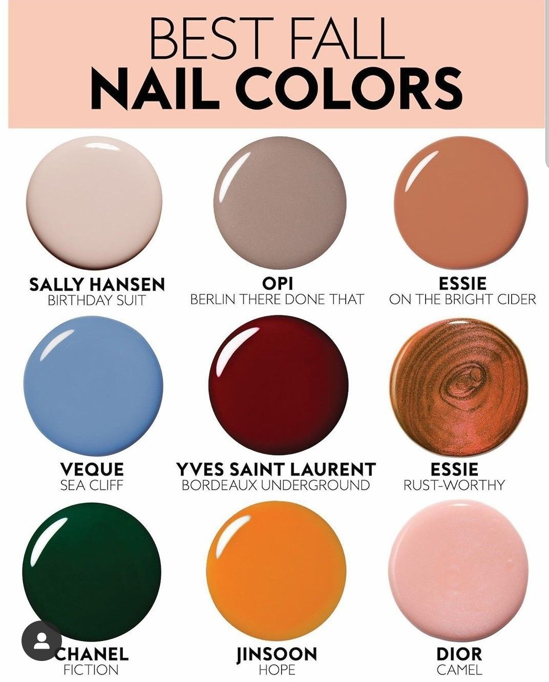 Nail Colors Fall 2019 Trend Fall Manicure Nail Polish Colors Fall Nail Colors