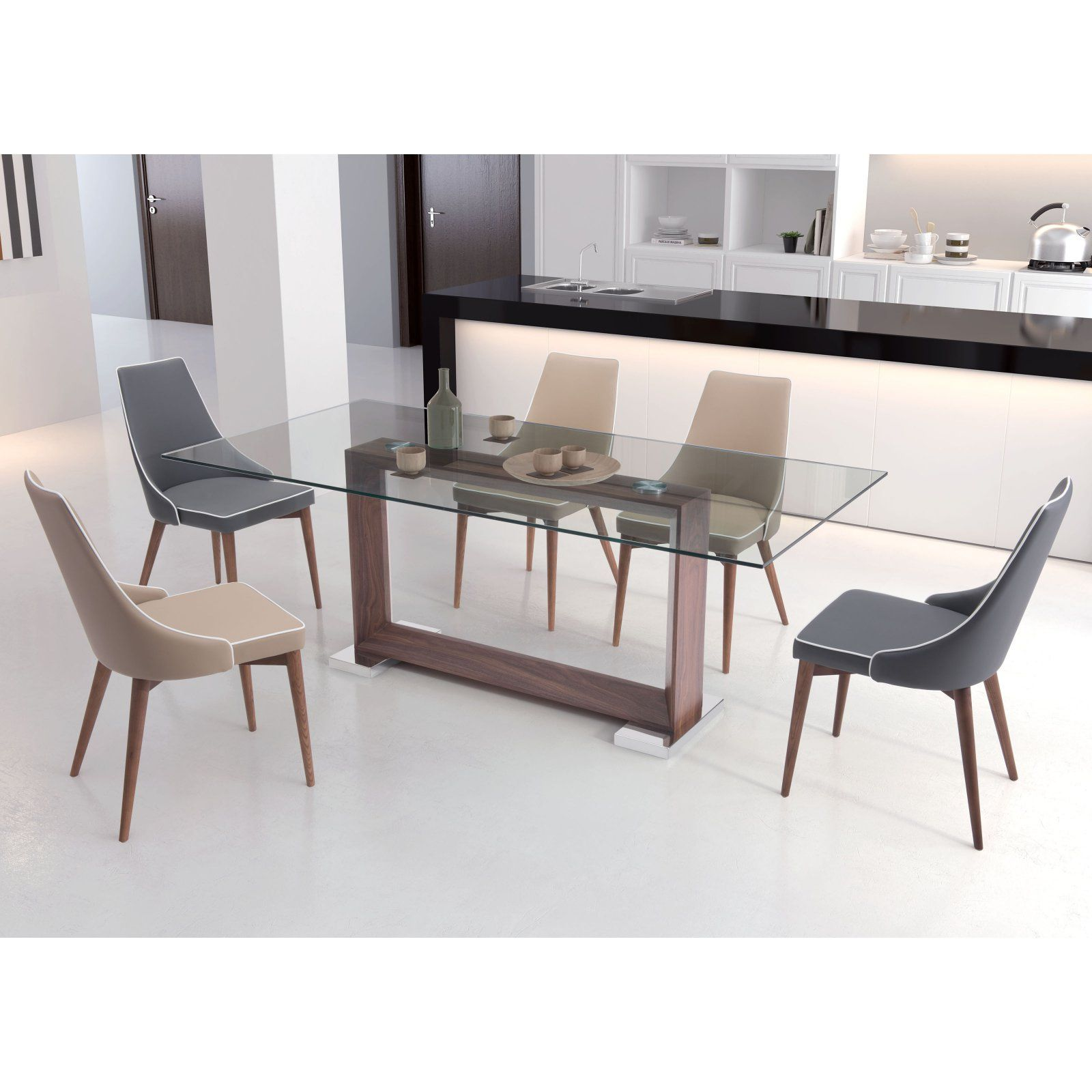 Zuo Modern 7 Piece Moor Dining Table Set In 2019 Products