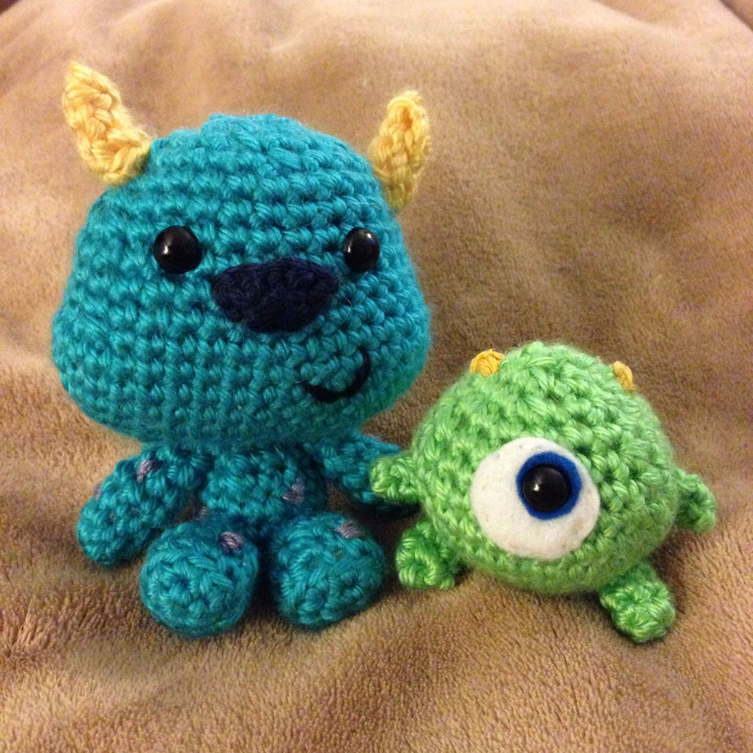 Amigurumi Monsters Inc : Baby mike and sully crochet amigurumi dolls from monsters ...