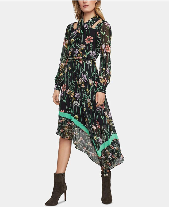 c69d926906 Floral-Print Cutout Midi Dress in 2019 | Products | Dresses, Floral ...