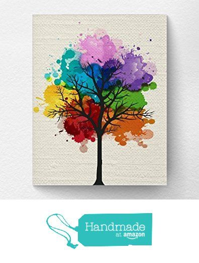 Chakra Rainbow Tree Wall Art Print Tree Nature Home Decor