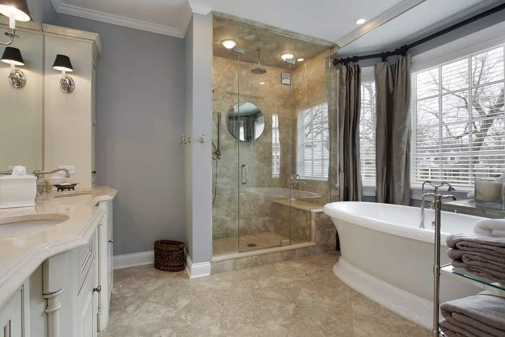 65 Medium Sized Primary Bathroom Ideas Photos Gray Bathroom Decor Modern White Bathroom Beige Bathroom