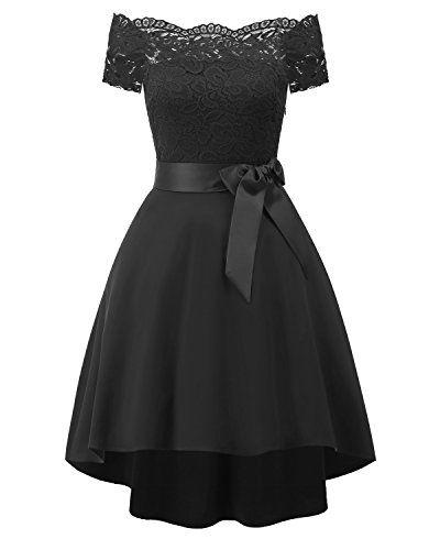 Laorchid Vintage Damen Kleid Spitzenkleid Off Schulter ...