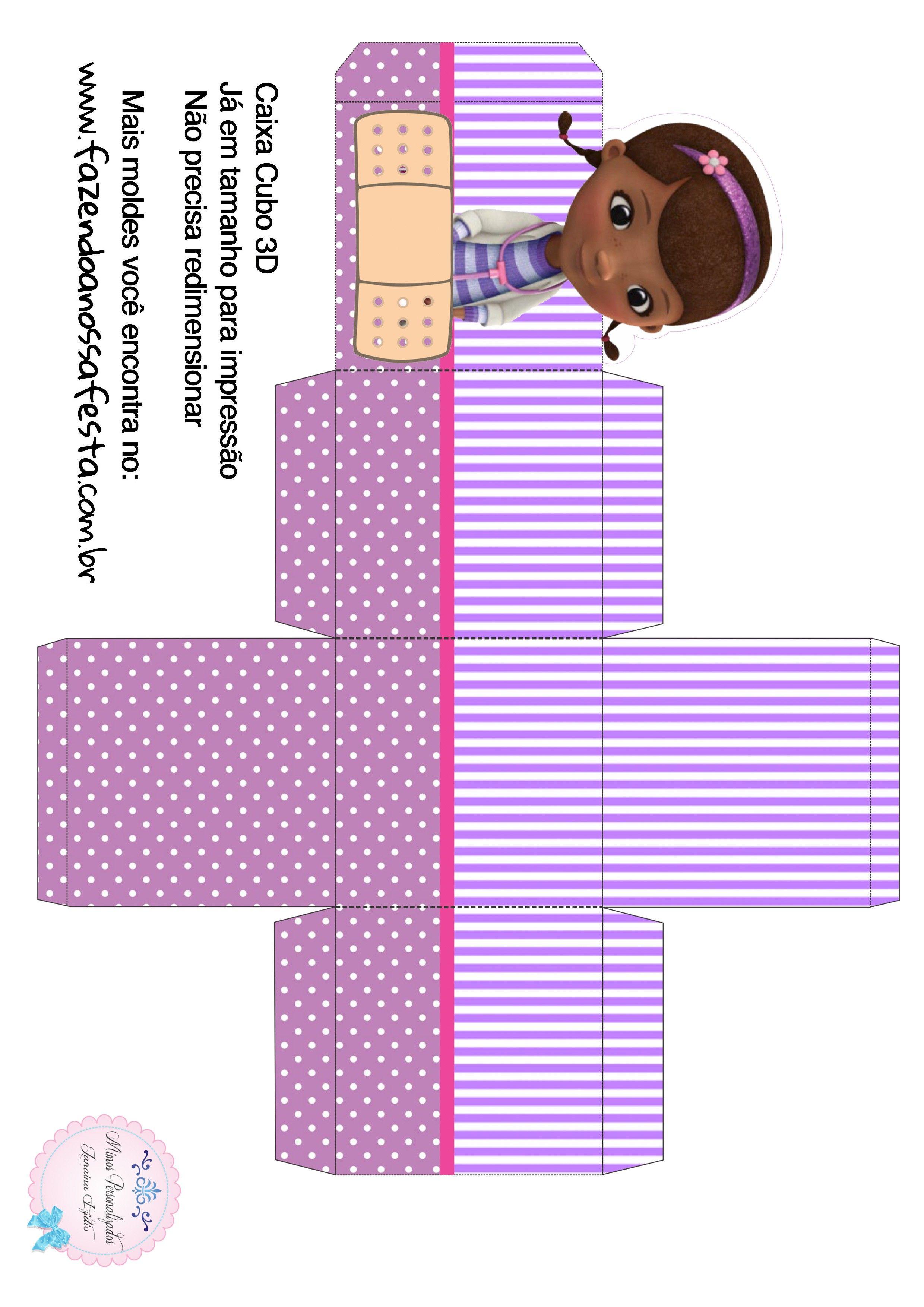 Caixa Cubo 3d Doutora Brinquedos Dotora Brinquedo Doutora