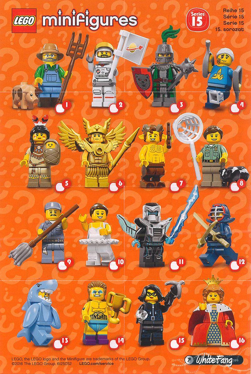 Lego Series 15 | Mini figures, Lego, Lego minifigures