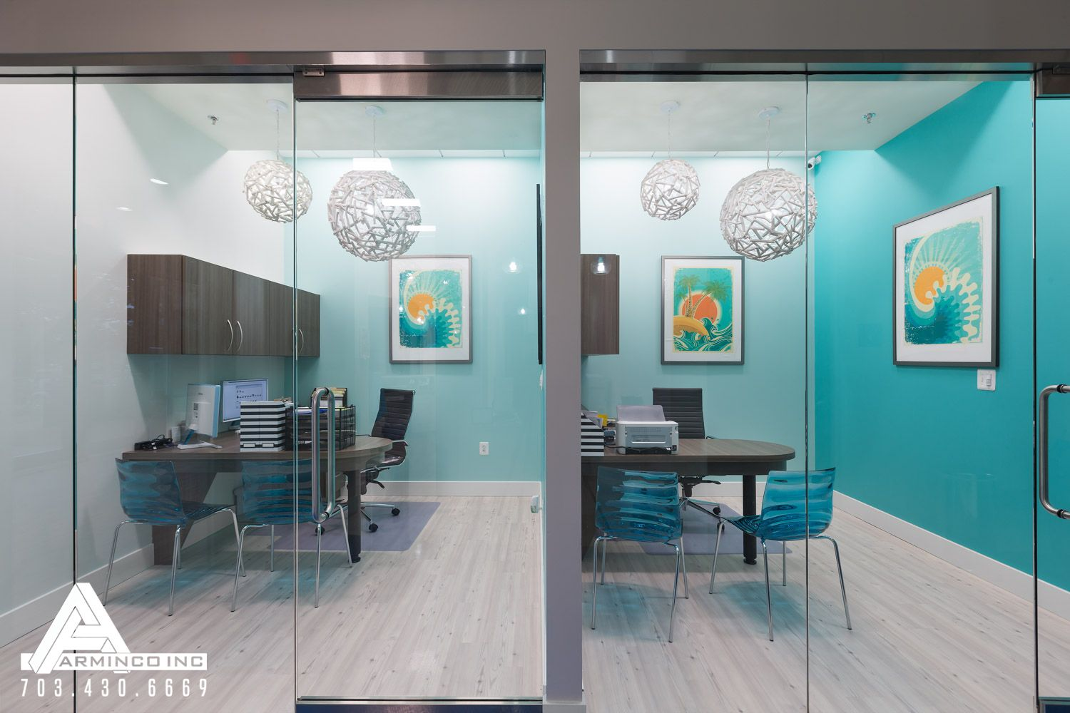 Beach themed consultation rooms dental office design by