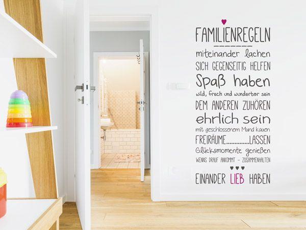 Wandtattoos für coole Familien - Familiensprüche und Motive Pinterest