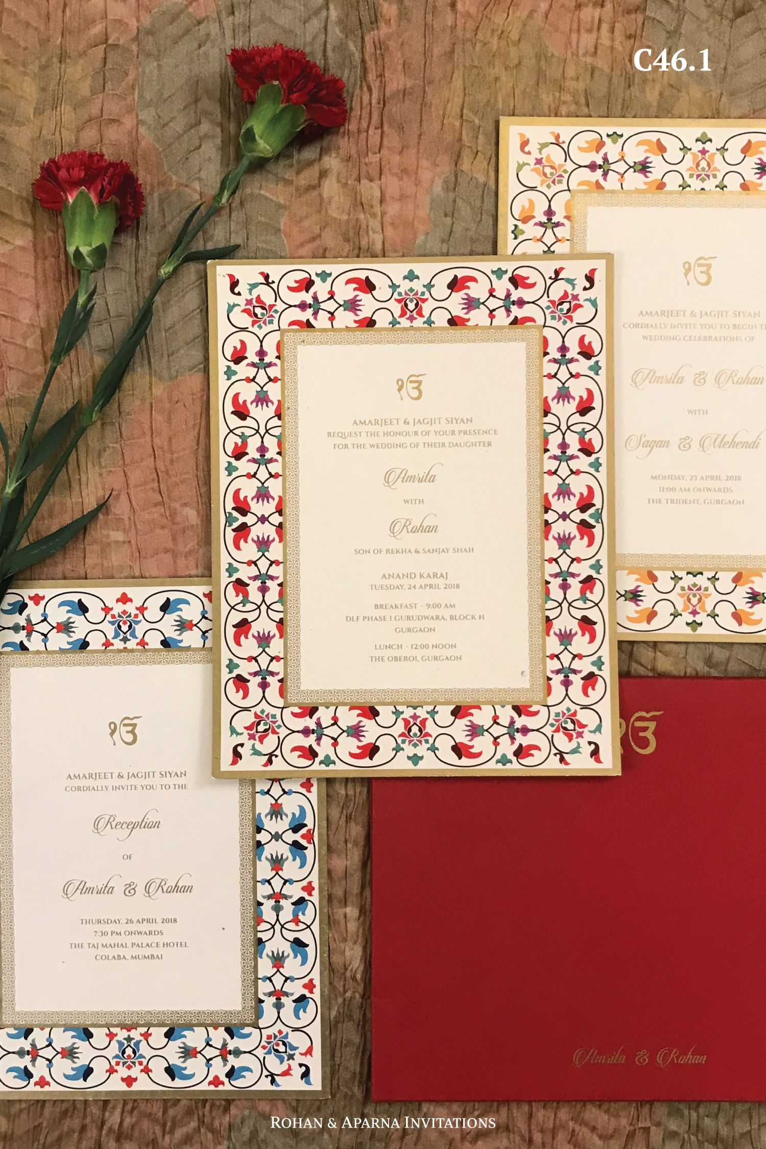 Colorful inlay work inspired wedding invitation . For more design ideas, visit www.rohanaparna.com ——————————————— #rohanaparnainvitations #invitations #weddinginvitations #weddingcard #uniqueinvitations #weddingcards #uniqueweddinginvitations #weddingstationery #hinduweddingcards #weddingphotography #indianwedding #invitationideas #indianweddingcards #destinationwedding #weddingcards #wedding #inlaywork #tajmahal