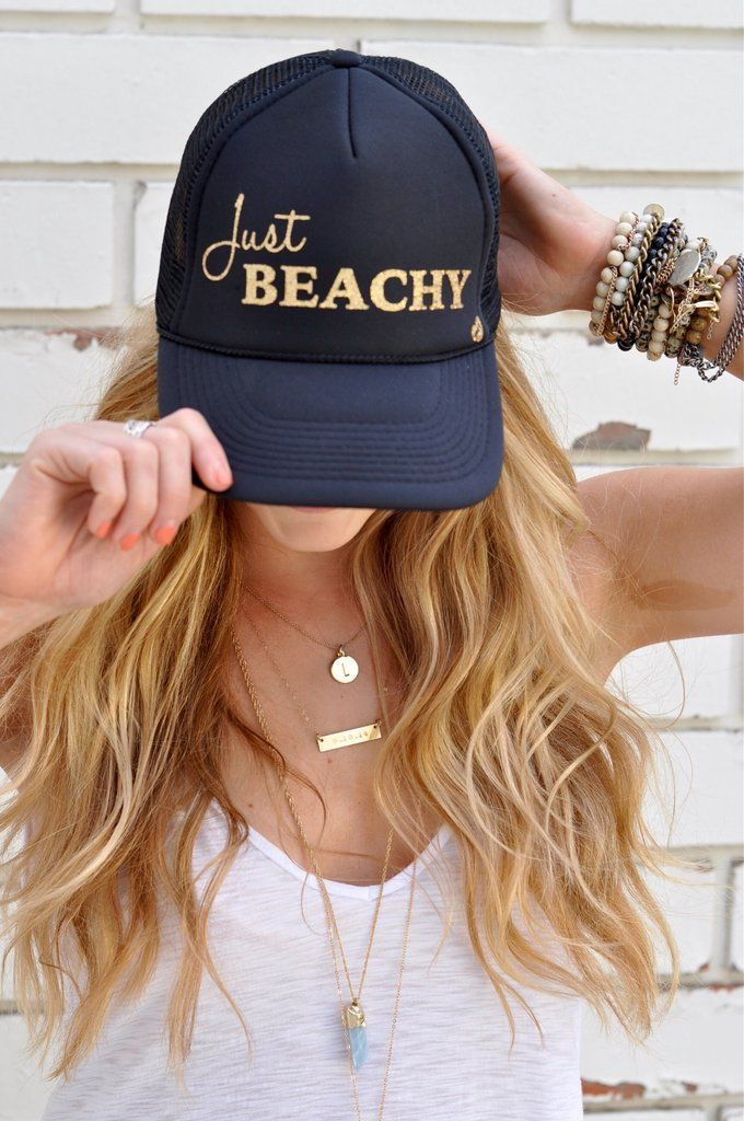 bdd914db8 Just Beachy' by Mother Trucker | clothing | Monogram hats, Baseball ...
