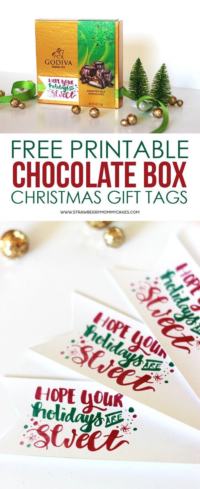 FREE Printable Chocolate Box Gift Tags | PRINTABLES! | Pinterest ...