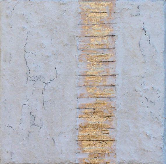 Abstrakte malerei blattgold auf leinwand strukturpaste - Bilder mit zeitungspapier ...