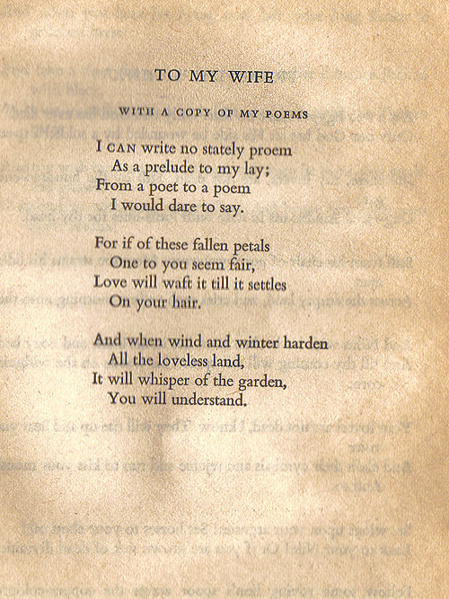 To My Wife Written By Oscar Wilde In 1881 For His Wife Constance