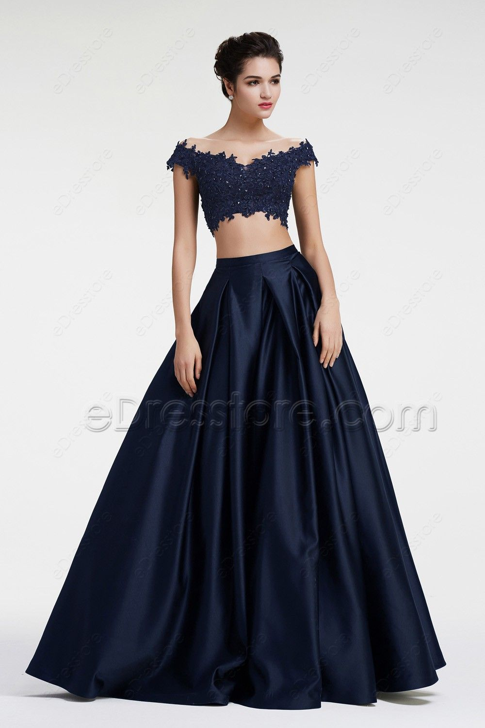 ba65d31a64 The gorgeous prom dress features off the shoulder neckline with beaded lace  top, ball gown skirt finishing with floor length.