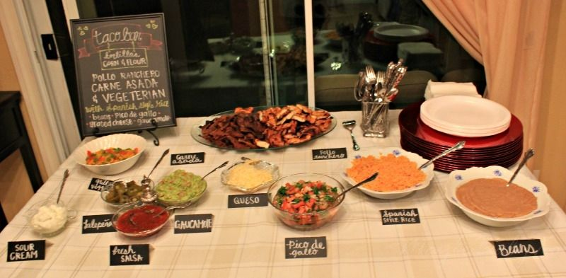 Taco Dinner Party Ideas Part - 15: Anniversary Party Taco Bar Menu