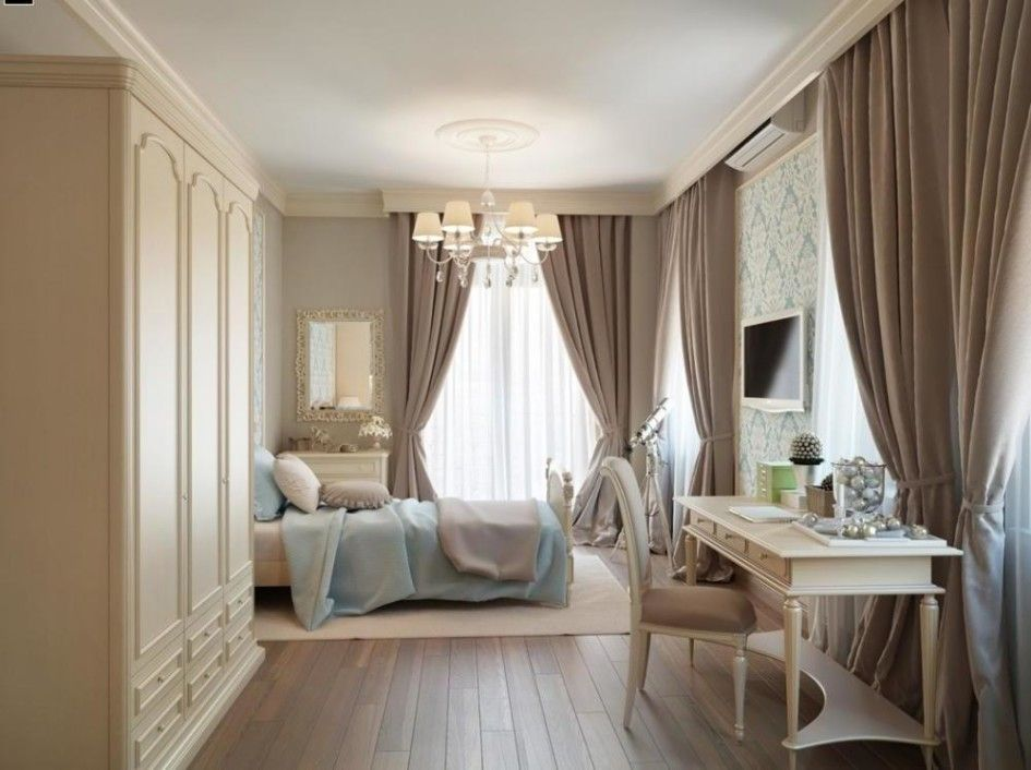 Bedroom, Master Bedroom Curtain Idea With Brown Drapes And ... on Master Bedroom Curtain Ideas  id=59139